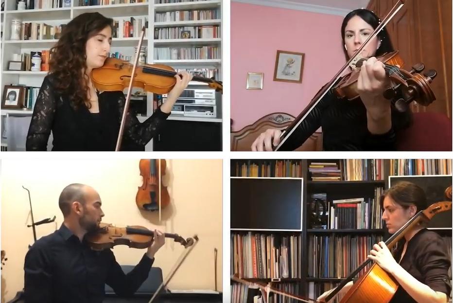 El Cuarteto Jordán estrena online la obra de Rubén Jordán CuartetOVIrtualDeprofundis